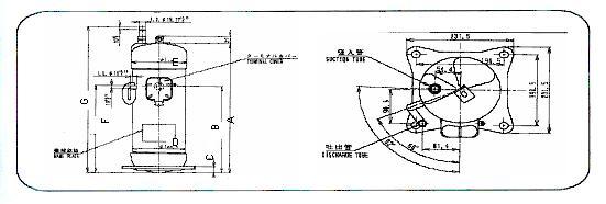 广州压缩机-大金jt125gabtal空调压缩机